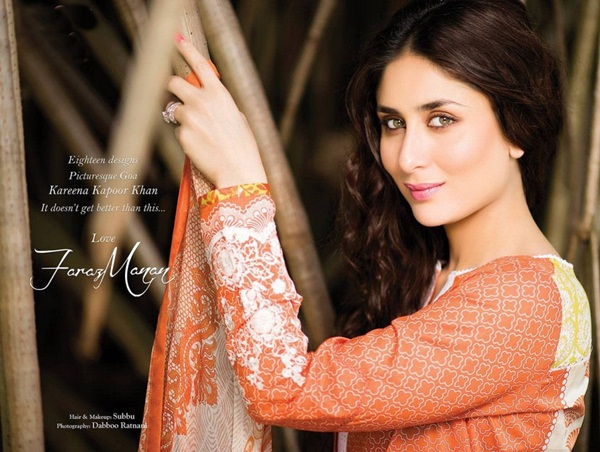 kareena kapoor photoshoot for crescent lawn clothing